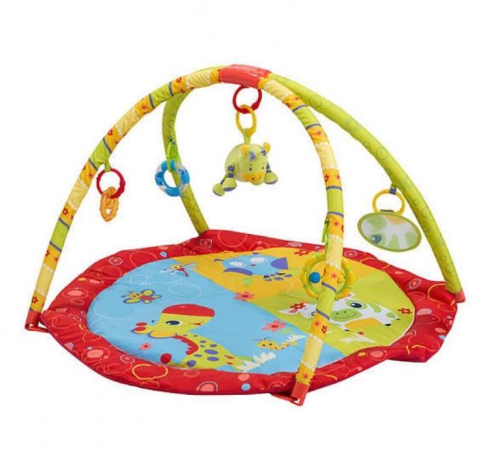 Развивающий коврик BabyOno Мир животныхМир животныхРазвивающий коврик BabyOno Мир животных - это целая игровая площадка, в которой есть все необходимое для занимательной игры и развития малыша.  Благодаря развивающему коврику Ваш ребёнок самостоятельно и с радостью будет открывать мир цветов, форм и звуков. Лёжа на коврике на спинке или на животике, малыш сохраняет полную свободу движений. Развивающий коврик BabyOno стимулирует нормальное всестороннее развитие ребёнка. Подвешенные игрушки (погремушка, прорезыватель, зеркальце) можно снять и использовать отдельно, либо подвесить в кроватке или коляске.  Особенности: изделие, благодаря которому Ваш ребёнок самостоятельно и с радостью будет открывать мир цветов, форм и звуков, коврик стимулирует нормальное всестороннее развитие ребёнка, подвешенные игрушки можно снять и использовать отдельно, либо подвесить в кроватке или коляске.<br>