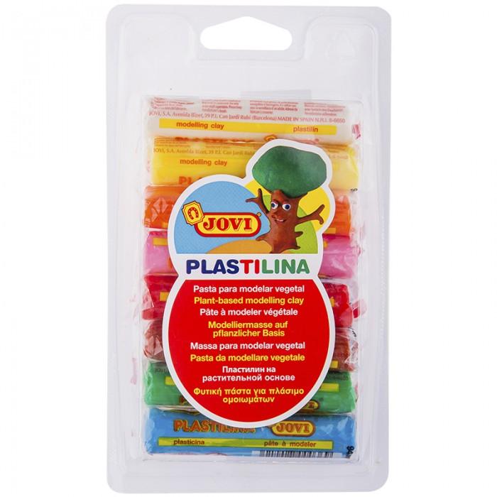 Всё для лепки Jovi Пластилин 8 цветов 120 г блистер, европодвес пластилин jovi 14 г 15 цветов в блистере
