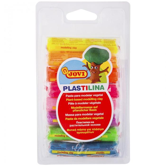 Всё для лепки Jovi Пластилин 8 цветов, 120 г флюоресцентный, блистер, европодвес пластилин jovi 14 г 15 цветов в блистере