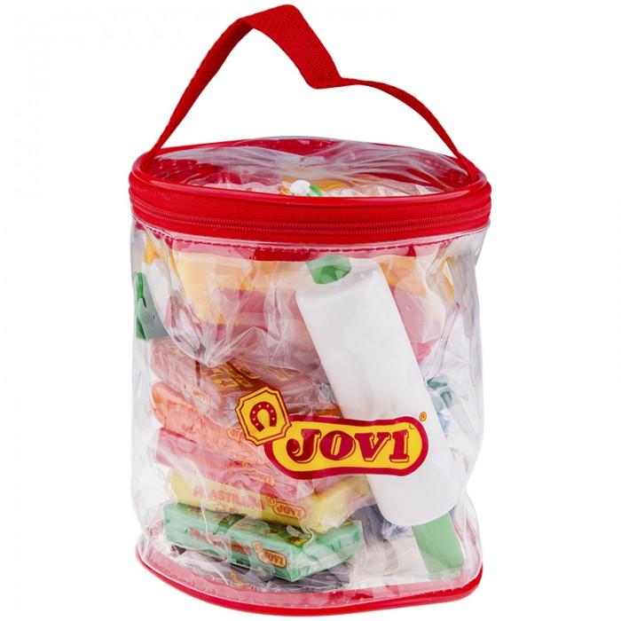 Всё для лепки Jovi Пластилин 12 цветов 600 г в контейнере пластилин jovi 14 г 15 цветов в блистере