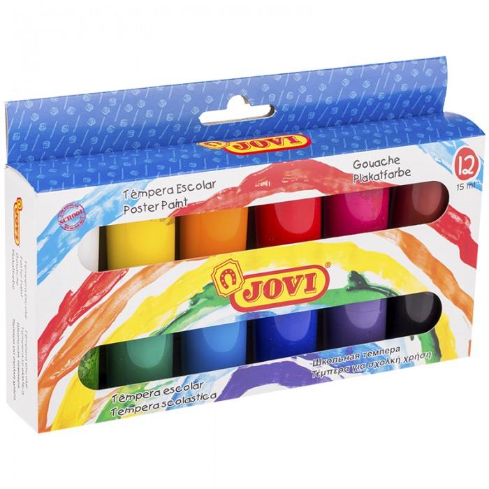 Краски Jovi Гуашь 12 цветов х 15 мл гуашь гамма лицей 16 цветов х 20 мл в картонной коробке