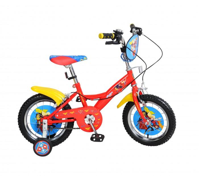 Велосипед двухколесный Navigator Super Hero Girls Kite-типа 14Super Hero Girls Kite-типа 14Двухколесный велосипед Navigator Super Hero Girls Kite-типа 14 подарит радость вашему ребенку.   Особенности:  Однокомпонентный кареточный узел Камеры из натуральной резины Стальные обода Покрышки 14 х 2,125 Задний ручной тормоз Передний ручной тормоз Вставки в колесах Широкие страховочные колеса Звонок Возраст от 4 до 6 лет<br>