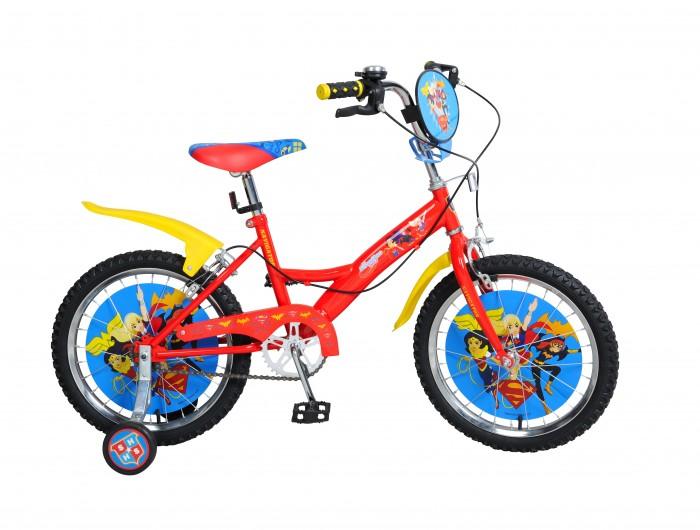 Велосипед двухколесный Navigator Super Hero Girls Kite-типа 18Super Hero Girls Kite-типа 18Двухколесный велосипед Navigator Super Hero Girls Kite-типа 18 подарит радость вашему ребенку.   Особенности:  Однокомпонентный кареточный узел Камеры из натуральной резины Стальные обода Покрышки 18 х 2,125 Задний ручной тормоз Передний ручной тормоз Вставки в колесах Широкие страховочные колеса Звонок Возраст от 6 до 9 лет<br>