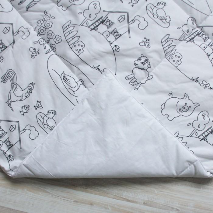 Игровой коврик VamVigvam для вигвама Painterдля вигвама PainterИгровой коврик VamVigvam для вигвама Painter ручной работы из экологичных натуральных материалов.  Игровой коврик очень пушистый. Подходит для игр на полу.  Материал: верх - цветной 100% хлопок, низ - 100% хлопок однотонный белый; наполнитель - синтепон.  Размер 105 х 105 сантиментов выбран по умолчанию, так как подходит к стандартному вигваму.  Игровой коврик под раскраску Painter станет прекрасным подарком для любого малыша. Изделие изготовлено из 100% натурального хлопка с синтепоновым наполнителем. Этот плед будет интересен творческим малышам, ведь его можно разукрасить так, как душе угодно. Краску можно будет смыть, достаточно постирать изделие в  стиральной машинке.<br>