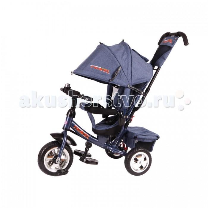 Велосипед трехколесный Travel TT2JTT2JTravel Трехколесный велосипед TT2J – очень полезное приспособление в первую очередь для родителей.   С одной стороны, это велосипед, с помощью которого малыш может начать контролировать свои движения. Но с другой – это удобная коляска для мамы. Она снабжена тормозом, съемной крышей на случай осадков, а также сумкой, которая крепится сзади. Руль и козырек регулируются по высоте. Для отдыхающего малыша предусмотрены широкие подставки для ножек и наклонная спинка сидения. Сама конструкция устойчива и легка в управлении.  Возраст: от 18 месяцев Комплект: велосипед, козырек, ручка управления, сумка Тип колес: пластиковые Диаметр переднего колеса: 25.4 см Диаметр задних колес: 20 см Тормоз: есть Вес: 11 кг<br>