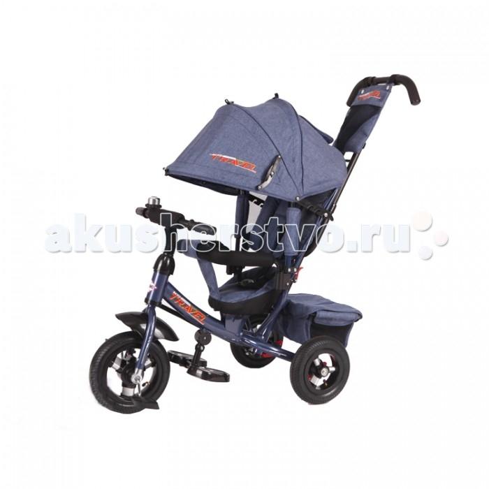 Велосипед трехколесный Travel TTA2JTTA2JTravel Трехколесный велосипед TTA2J – очень полезное приспособление в первую очередь для родителей.   С одной стороны, это велосипед, с помощью которого малыш может начать контролировать свои движения. Но с другой – это удобная коляска для мамы. Она снабжена тормозом, съемной крышей на случай осадков, а также сумкой, которая крепится сзади. Руль и козырек регулируются по высоте. Для отдыхающего малыша предусмотрены широкие подставки для ножек и наклонная спинка сидения. Сама конструкция устойчива и легка в управлении.  Комплект: велосипед, сумка, бутылка, ручка, капюшон, клаксон, корзина. Диаметр переднего колеса: 25см Диаметр задних колес: 20 см<br>