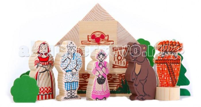 Деревянные игрушки Томик Конструктор Сказки: Маша и медведь томик конструктор сказка деревянный маша и медведь 17 деталей 4534 9 40656