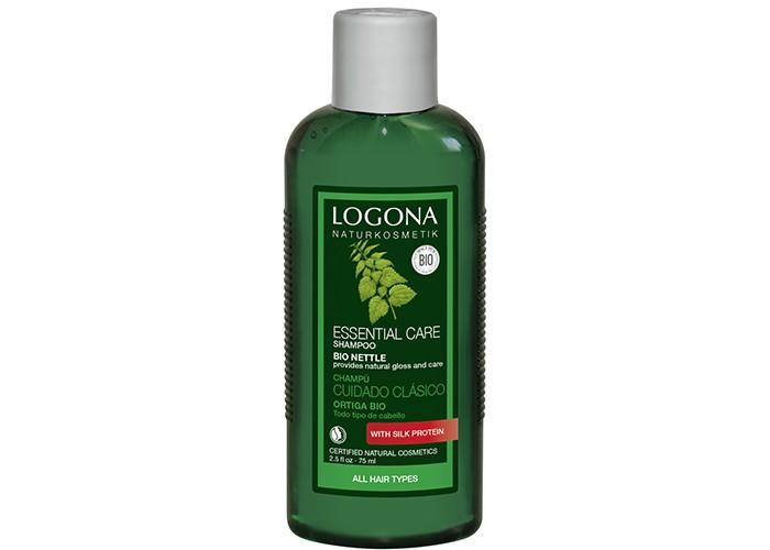Косметика для мамы Logona Шампунь для базового ухода за волосами с Экстрактом Крапивы 75 мл logona восстанавливающее масло для волос 75 мл