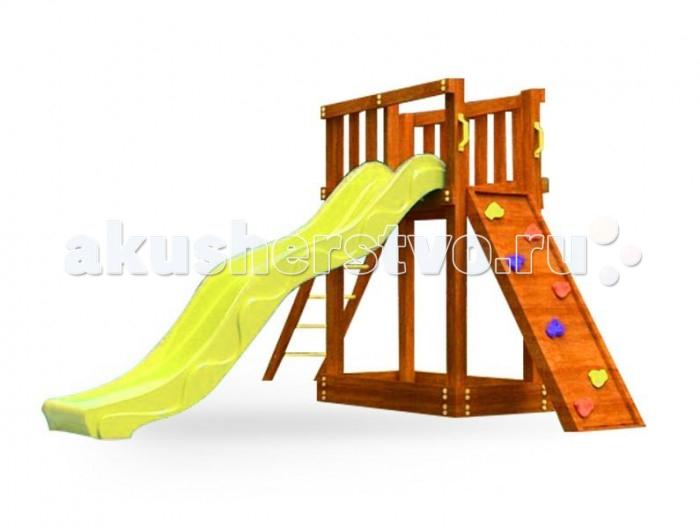 Самсон Детская площадка МальтаДетская площадка МальтаСамсон Детская игровая площадка Мальта предназначена для детей от 4 до 9 лет, создает условия, обеспечивающие физическое развитие ребенка, развивающие координацию движений, преодоление страха высоты, ловкость и смелость, чувство коллективизма в массовых играх.   Комплектация детской игровой площадки Мальта:  песочница (175 мм) деревянная лестница с металлическими ступеньками скалодром с канатом шведская стенка канат качели (2 шт.) флаг государства Мальта желтые пластиковые поручни длина 250 мм (4 шт.) горка (4 цвета: зеленый, красный, желтый, синий. Цвет горки комплектуется из имеющихся на складе). Габариты площадки:  внешние размеры 2.14 м х 2.89 м  высота 1.85 м  длина горки 2.5 м  Допустимая нагрузка: 300 кг.  Масса изделия: 94 кг.   Каркас детской игровой площадки изготовлен из многослойного клееного соснового бруса толщиной 85 мм,пол, ограждения из массива сосны толщиной 17 мм.   Детская деревянная площадка упакована в гофрокартоновые короба: 4 места + горка.  1 место (185 х 30 х 8.5) 2 место (185 х 30 х 8.5) 3 место (120 х 30 х 17) 4 место (120 х 30 х 17) 5 место (135 х 50 х 30)<br>