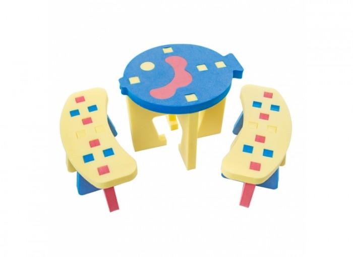TweetSweet Комплект мебели Little Fish StoolКомплект мебели Little Fish StoolTweetSweet Комплект мебели Little Fish Stool  - это разноцветный уголок для игр маленьких фантазеров. Отличный столик со скамейками на который уместится по 2 человечка. Компактный разборный набор детской игровой мебели из блоков соберет и установит даже ребенок. Столик, выполненный в форме рыбки, станет местом весёлого времяпровождения, вкусного завтрака с обедом и привнесёт в распорядок дня игровые элементы.  Детский стол и вместительные скамейки изготовлены из вспененного полиэтилена, являющимся абсолютно безопасным и гипоаллергенным материалом. За замечательным красочным столом и детскими стульчиками можно проводить и подвижные, и разнообразные интеллектуальные игры для детворы.  Размер столика: 50 x 40 x 40 см Размер скамьи: 50 x 25 x 20 см Количество частей: 19 блоков<br>