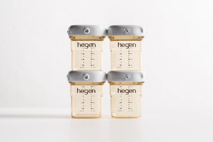 Hegen Набор контейнеров для хранения 4 шт. 150 млНабор контейнеров для хранения 4 шт. 150 млHegen Набор контейнеров для хранения 4 шт. 150 мл PPSU*6 революционная PPSU бутылочка PCTO™ от Hegen позволяет вам собирать, хранить грудное молоко и осуществлять кормление с помощью одной бутылочки, просто меняя насадку для кормления, крышку и адаптер, чтобы преобразовать бутылочку для кормления в контейнер для хранения грудного молока или контейнер для перекачки без какой-либо передачи молока. Это сводит к минимуму потери и уменьшает беспорядок, считая каждую каплю, с целью обеспечения непрерывного и постоянного процесса грудного вскармливания.  Герметичность при использовании крышек для хранения PCTO™ от Hagen: функциональность бутылочек Hegen увеличивается с развитием вашего ребенка, так как они могут использоваться для других целей хранения. Бутылочки изготовлены из материала, подходящего для контакта с пищевыми продуктами FDA и полифенилсульфона PPSU для медицинского применения, сертифицированного NSF, выбранного специально благодаря его превосходной вязкости и высокой термостойкости; не содержит BPA, BPS, фталатов и ПВХ.<br>