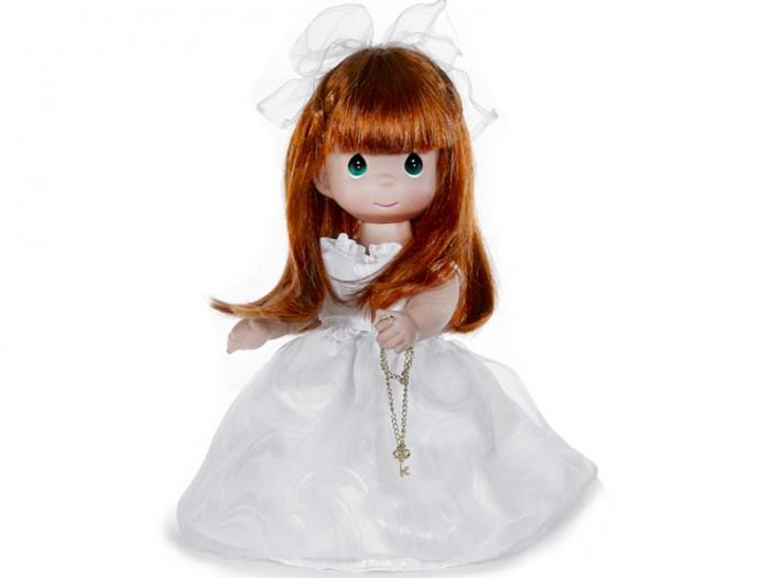 Precious Кукла Ключ к моему сердцу рыжая 30 смКукла Ключ к моему сердцу рыжая 30 смКоллекционная кукла Precious Moments Ключ к моему сердцу очарует вас и вашу дочурку с первого взгляда!   Кукла очарует вас и вашу дочурку с первого взгляда! На кукле потрясающее платье с пышной юбкой, на ногах - панталоны, носочки и туфельки в тон платья. Длинные рыжие волосы украшены бантиком. На милом личике большие зеленые глаза. В руке куколка держит ключик на цепочке.   Особенности:  Вся одежда съемная.   Кукла изготавливается из качественного, безопасного материала и имеет пять базовых точек артикуляции.   Кукла имеет свой неповторимый образ и характер.   Волосы прошитые, из качественного синтетического волокна или крученых ниток, в зависимости от образа. Рост куклы 30 см.<br>