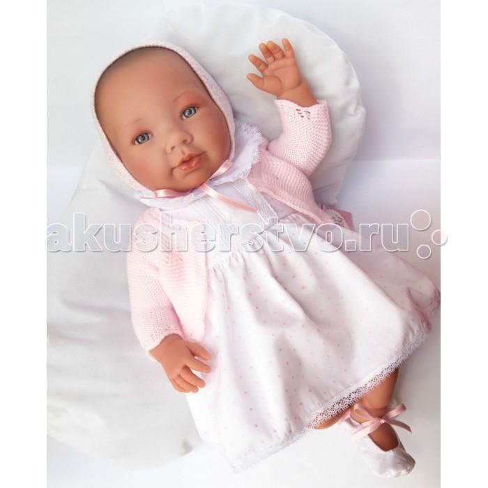 ASI Кукла Альба 46 см 333970Кукла Альба 46 см 333970ASI Кукла Альба 46 см 333970   Эта кукла реборн имеет свидетельство о рождении и все необходимые атрибуты настоящего малыша.  Играть с такой куклой - сплошное удовольствие. Реборн сделан из винила, тело - мягконабивное. Вот почему куколка такая легкая и способна принимать очень естественные положения, когда Вы ее держите на руках или сажаете.  Альба выглядит совсем, как новорожденный малыш. У нее очень выразительные черты лица, широко открытые глазки, длинные пушистые реснички и пухлые губки. У этого реборна очень трогательные складочки на ножках и ручках.   У Альбы очень интересный наряд: пышное платице, чепчик и милейшие пинетки. В комплекте - мягкий плед нежно розового цвета  Все куклы ASI создаются с использованием ручного труда. В каждую куколку мастер вкладывает свою душу! Ваш ребенок сразу почувствует тепло и доброту, которая исходит из этой маленькой игрушки.  Особенности:  Куклы ASI сделаны очень качественно Без запаха   Используется безопасный твердый винил Видна прорисовка мельчайших подробностей тела, рук и ног<br>