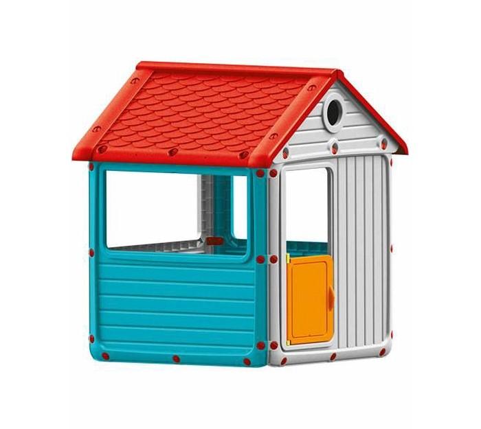 Dolu Игровой домик для улицыИгровой домик для улицыDolu Игровой домик для улицы будет отличным местом для игр на свежем воздухе, в котором дети смогут вести свое хозяйство, создавая уют и принимать гостей. Домик довольно просторный, в нем спокойно поместятся двое-трое деток, они смогут продолжить свои игры, даже если за окном идет небольшой дождик или светит слишком яркое солнышко. Так как окошки в домике сквозные и большие (отсутствует стекло), то родители могут всегда наблюдать за играми детей и не переживать, что дети получат какие-то травмы.<br>