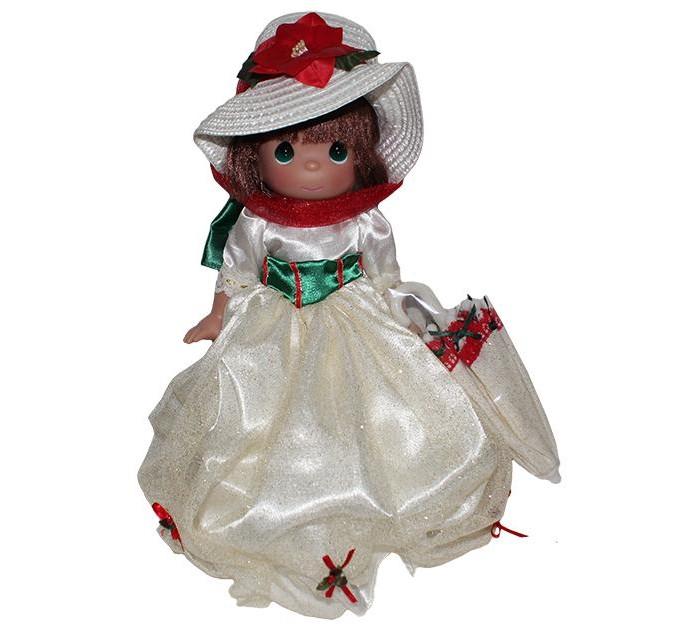 Precious Кукла Мэри Поппинс 30 смКукла Мэри Поппинс 30 смКоллекционная кукла Precious Moments Мэри Поппинс очарует вас и вашу дочурку с первого взгляда!   Кукла с темными волосами одета в атласное платье бежевого цвета с блестками, украшенное сзади большим зеленым бантом. На голове - элегантная соломенная шляпка, декорированная красным текстильным цветком. У куклы милое личико с большими изумрудными глазами. В комплекте с куклой идет непременный атрибут Мэри Поппинс - зонтик, выполненный в едином стиле с нарядом куклы.     Особенности:  Вся одежда съемная.   Кукла изготавливается из качественного, безопасного материала и имеет пять базовых точек артикуляции.   Кукла имеет свой неповторимый образ и характер.   Волосы прошитые, из качественного синтетического волокна или крученых ниток, в зависимости от образа. Рост куклы 30 см.<br>