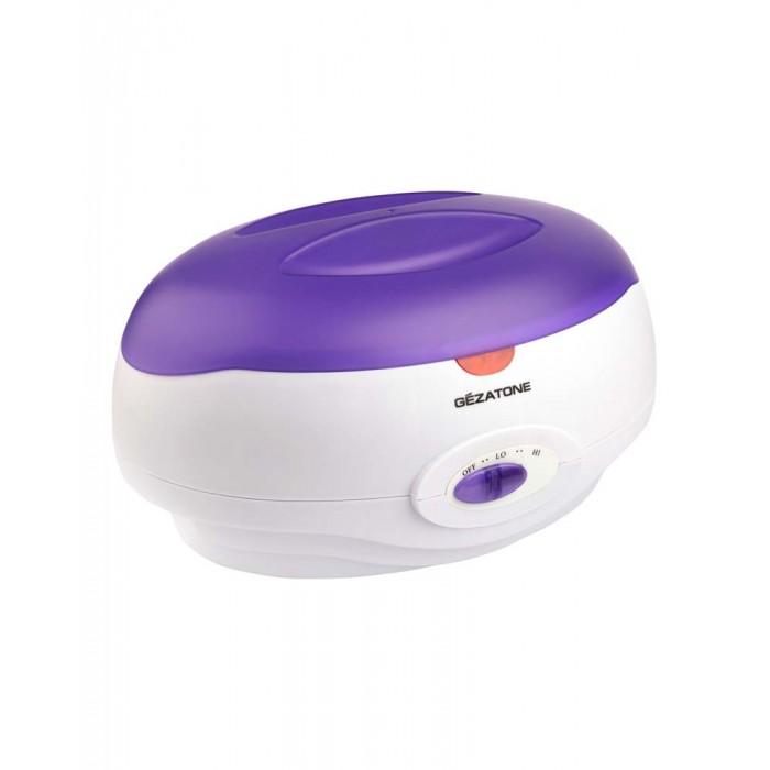 Gezatone Ванна нагреватель парафина 2 кгВанна нагреватель парафина 2 кгGezatone Ванна нагреватель парафина 2 кг для проведения процедуры парафинотерапии рук и ног в домашних условиях.  Парафинотерапия – широко применяемая в косметологии процедура по уходу за кожей рук и ног. приятная и эффективная процедура, широко применяемая в косметологии. Для проведения сеанса парафинотерапии используется косметический парафин, который разогревают до определенной температуры. Всего после одной такой процедуры кожа становится нежной, бархатистой и мягкой.  Особенности: Парафинотерапия оказывает восстанавливающее, общеукрепляющее и омолаживающее действие.  После процедуры с использованием ванночки для парафинотерапии Gezatone кожа укрепляется и подтягивается, исчезают микротрещинки и шелушение. Процедура парафинотерапии активно применяется в комплексных курсах борьбы с проблемами суставов.  Погружение в теплый парафин помогает снять боль, восстанавливает активность и подвижность суставов. Тепловой эффект парафина способствует глубокому проникновению косметических препаратов – сывороток, кремов, эмульсий. Именно поэтому перед проведением процедуры рекомендуется наносить косметические средства, в состав которых входит коллаген и эластин.  Теплый парафин поможет проникнуть компонентам в глубокие слои кожи, в результате чего повышается упругость и эластичность кожи. Парафинотерапия обладает выраженным лифтинговым эффектом - компрессионный эффект парафина моментально подтягивает кожу и разглаживает морщины.<br>