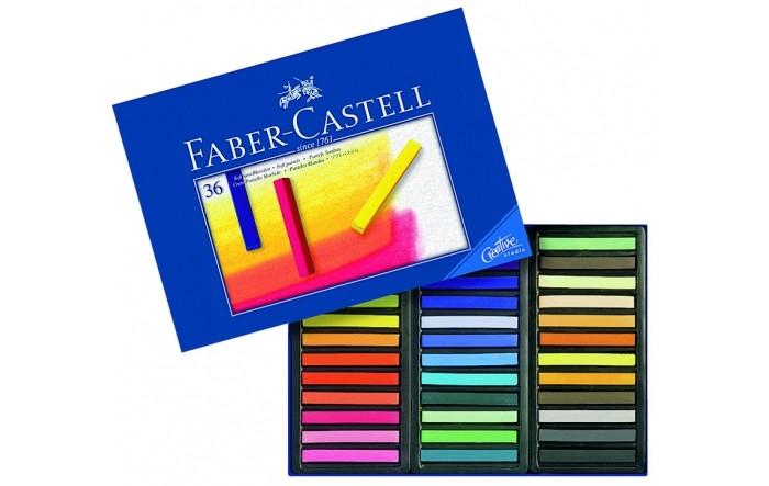 Мелки Faber-Castell мягкие Gofa в картонной коробке 36 шт.мягкие Gofa в картонной коробке 36 шт.Faber-Castell Мягкие мелки Gofa в картонной коробке – это мягкие пастельные мелки производства знаменитой фабрики Faber-Castell, Германия, специализирующейся на производстве высококачественных графических материалов. В линейку входит 36 ярких цветов, составляющие наборы мелков стандартной длины по 12, 24 и 36 цветов в наборе.  Мелки Gofa отличаются гладким нанесением на бумагу, легко растираются пальцами или специальной кисточкой. Рекомендуется легкая фиксация рисунка для предотвращения размазывания. Наборы Gofa идеальны как для начинающих художников, так и для опытных мастеров.<br>