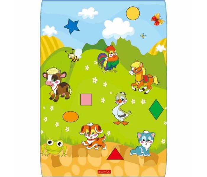 Игровой коврик BabyPol Домашние животные 100х140х1 см