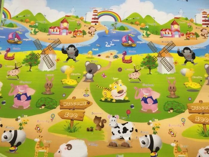 Игровой коврик BabyPol Веселая ферма №2 180х150х1 смВеселая ферма №2 180х150х1 смИгровой коврик BabyPol Веселая ферма №2 180х150х1  Напольное покрытие для малыша - это его личное пространство для игр.   Детские коврики BabyPol – это настоящее удовольствие для ребенка и лучший помощник в развитии малыша, что по достоинству оценит каждая мама.  А связано это с тем, что они: Коврики BabyPol теплые, а значит, не придется переживать, что во время игры малыш замерзнет. Коврики BabyPol просты в уходе, соответственно, не возникнет сложностей с тем, как его помыть, а главное – он не собирает пыль благодаря своему уникальному покрытию. Коврики BabyPol обладают широким набором возможностей, ввиду этого они прекрасно подойдут для развития детишек различных возрастов.  Коврик BabyPol для детской комнаты – незаменимая вещь, если Вы хотите наполнить каждый день жизни своего ребенка яркими красками, полезными открытиями и отменным настроением.   Не скользит (поверхность в рубчик). Не впитывает запахи. Не боится влаги. Можно оставлять малыша погулять без подгузника.  Напольное покрытие поставляется в рулоне.<br>