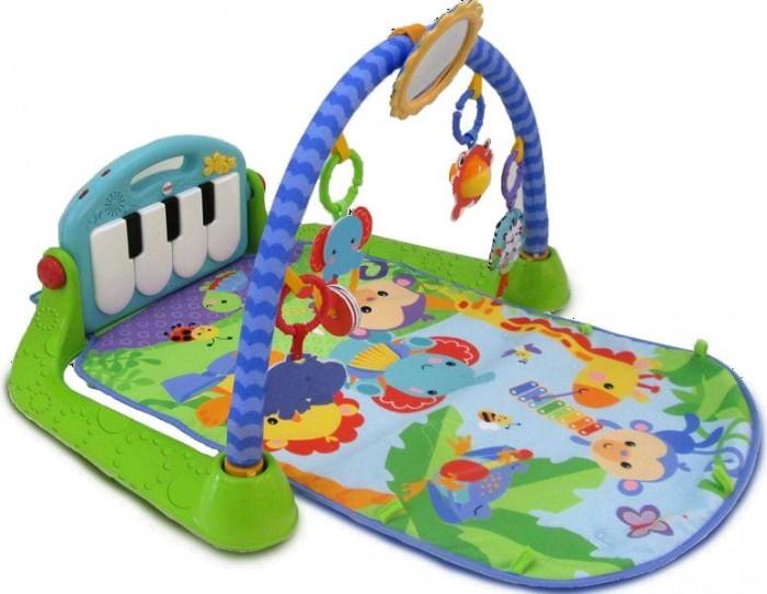 Развивающий коврик Fisher Price Mattel ПианиноMattel ПианиноРазвивающий коврик Пианино - классический гимнастический коврик с проверенным форматом ножного пианино для Вашего малыша!  3 режима игры: Лежим и играем - малыш бьет ножками по клавишам пианино и смотрит вверх на арку с игрушками. Игры на животике - арка опускается вниз к коврику, позволяя малышу лежа смотреть прямо в большое зеркало. Сидим и играем - клавиши пианино выравниваются, и ребенок играет на пианино в окружении игрушек на опущенной арке.  В наборе: коврик с пианино, большое зеркало и веселые игрушки-зверушки.  Пианино может проигрывать короткие звуки (ноты, короткие песенки) и длительные мелодии (до 15 минут непрерывного проигрывания). При проигрывании над клавишами пианино мигают огоньки.  Яркая расцветка и милая мелодия будут забавлять и радовать малыша. С такой игрушкой у ребенка будет отлично развиваться слуховое и зрительное восприятие, а мелкие детали будут способствовать развитию мелкой моторики пальчиков рук и тактильных ощущений у малыша.  Пианино снимается, чтобы с ним можно было играть в любом месте! Есть выключатель и регулировка громкости.<br>
