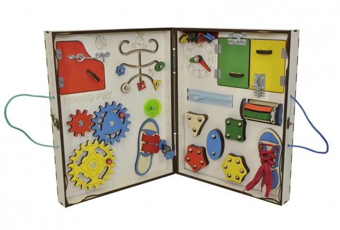 Деревянная игрушка Iwoodplay Бизиборд складной