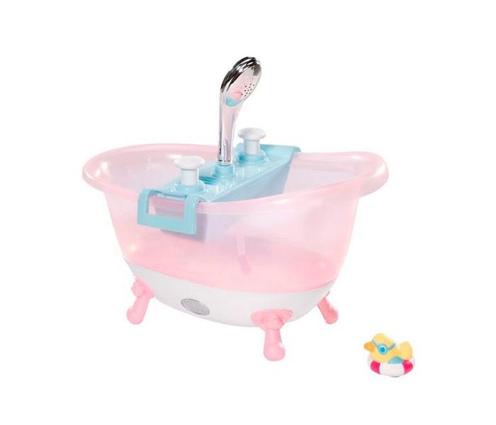 Zapf Creation Baby born Ванна с пеной  822-258Baby born Ванна с пеной  822-258Zapf Creation Baby born Ванна с пеной 822-258    В ванне загорается подсветка. При нажатии на одну кнопку льется вода из душа, а при нажатии на другую кнопку в ванне появляется пена. В комплекте уточка для игры в воде.  Теперь девочка сможет купать свою любимую куклу, как настоящего малыша.Еще никогда купание куклы не было таким интересным и веселым!<br>