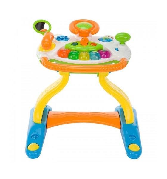 Ходунки Weina 3 в 1 Музыкальный руль3 в 1 Музыкальный рульХодунки-центр 3 в 1 Музыкальный руль со звуковыми и световыми эффектами предназначены для самых маленьких.   Игрушку можно использовать как игровой столик, а сняв ножки с нее, играть музыкальной игровой панелью на полу.   За рукоятку ходунков удобно браться, чтобы вставать и ходить. Нажав на кнопки пианино, малыш услышит звуки животных. На панели имеется руль, зеркальце, переключатель скорости и телефончик.   Игра сопровождается световыми эффектами. Такой столик не оставит равнодушным малыша и познакомит с миром музыки.  Развитие навыков. Игровой столик поможет развить малышу музыкальный слух, чувство ритма и мелкую моторику рук.  Особенности: 10 музыкальных мелодий Звуковые и световые эффекты Можно использовать как столик и игровую панель Переключатель с регулятором громкости Съемные ножки Батарейки: 3 шт. типа АА (входят в комплект)<br>