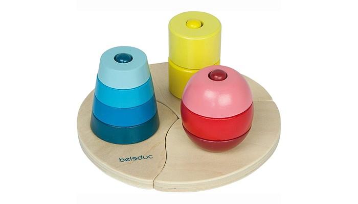 Деревянные игрушки Beleduc Развивающая Три пирамидки деревянные игрушки beleduc развивающая веселый бегемотик