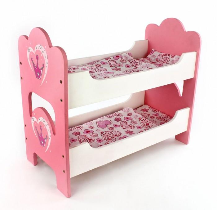 Кроватки для кукол Mary Poppins Корона деревянная двухспальная