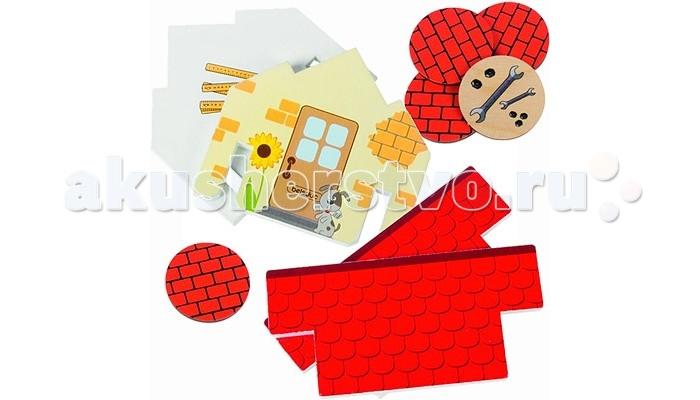 Развивающая игрушка Beleduc Ловкие строителиЛовкие строителиBeleduc Развивающая игра Ловкие строители с которой ребенок сможет самостоятельно построить домик, складывая кирпичик за кирпичиком. Игроки по очереди переворачивают строительные фишки и сравнивают изображения с теми, которые изображены на элементах домика. Если изображения совпадают, игроки собирают и составляют их вместе, пока не построят дом.  В процессе работы развивается мелкая моторика руки, усидчивость, наблюдательность, а также формируются базовые представления о правилах в игре.   В комплекте:  24 детали домика  12 строительных фишек  инструкция<br>