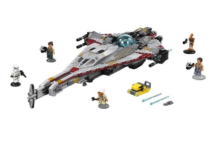 Конструктор Lego Звездные войны Стрела 775 элементовЗвездные войны Стрела 775 элементовКонструктор Lego Звездные войны Стрела 775 элементов 75186 - оснащен вместительными отсеками, двумя кабинами пилотов и различными видами оружия. Его форма и оснащение позволяют не бояться схваток с практически любыми кораблями его класса в межпланетном пространстве.   В наборе имеется подробная инструкция, более семи сотен деталей и пять минифигурок.<br>