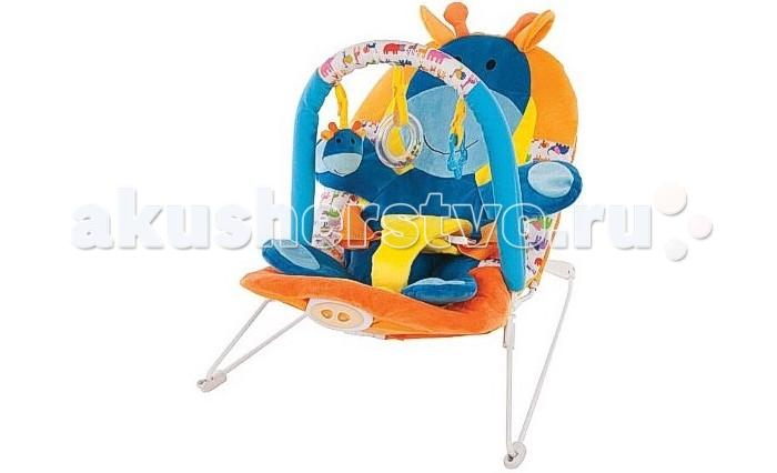 Жирафики Детское кресло-качалка ЖирафикДетское кресло-качалка ЖирафикЖирафики Детское кресло-качалка Жирафик с 3-мя развивающими игрушками, вибрацией и музыкой создан для младенцев. Этот замечательный шезлонг родители малыша оценят по достоинству, а ребенку в нем будет комфортно и интересно.  Изделие выполнено из высококачественного материала, безопасного для ребенка. Качалка имеет анатомическое кресло, в котором малыш находится в положении полулежа, что безвредно для неокрепшего позвоночника карапуза.  Кроме того, шезлонг имеет режим вибрации, при включении которого ребенок успокаивается. Также в кресло встроена музыка, отвлекающая кроху от капризов, а симпатичные игрушки, свисающие с дуги, будут развлекать ребенка.  Этот отличный шезлонг станет незаменимой вещью для молодой мамы и даст ей возможность заняться другими делами.<br>