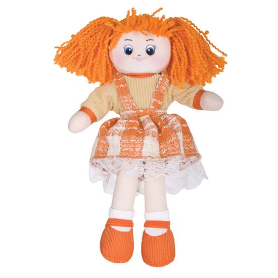 Куклы и одежда для кукол Gulliver Кукла Апельсинка в клетчатом платье gulliver игр мягкая кукла мальчик в голубой рубашке блондин 40см