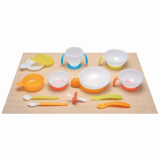 Combi Набор посуды Tableware Step 3Набор посуды Tableware Step 3Серия детских товаров от Combi вобрала в себя все новейшие разработки и исследования в области ухода за детьми. Набор детской посуды Combi Tableware Step 3 включает в себя серии «Baby label Step 1» от 5 месяцев и «Baby label Step 2» от 12 месяцев. Подходит для кормления малыша и обучения обращению со столовыми приборами. Яркий и удобный дизайн не оставит равнодушным ни одного малыша.  Характеристики: для детей от 5 месяцев изготовлена из экологически чистых и безопасных материалов не содержит бисфенол-А подходит для кормления малыша и обучению обращения со столовыми приборами оригинальный, яркий и удобный дизайн одна из вилок имеет ограничитель для повышения безопасности и используется в период от 5 до 12 месяцев две тарелки имеют ручки можно использовать в микроволновке яркий и удобный дизайн не оставит вашего малыша равнодушным легко моется  В комплекте: 3 ложки 2 вилки 6 тарелок 1 кружка 1 крышка<br>