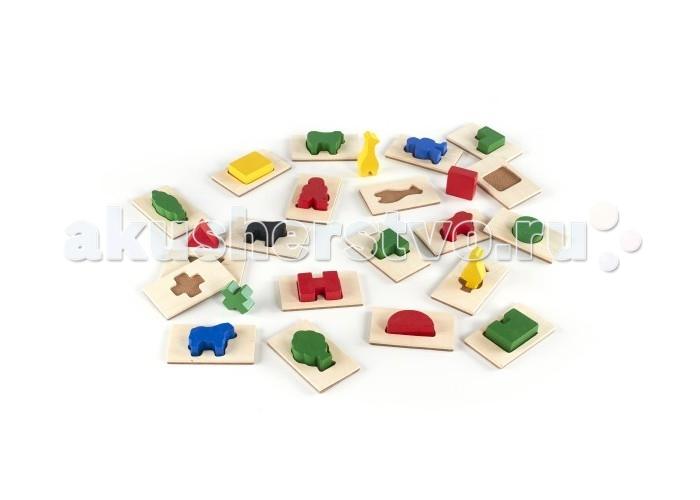 Деревянная игрушка Guidecraft Сортер 3D Почувствуй и найдиСортер 3D Почувствуй и найдиGuidecraft Сортер 3D Feel & Find Почувствуй и найди – детская развивающая игрушка, основным предназначением которой является сортировка предметов по одному или нескольким признакам. В комплекте с 20 деревянных форм и соответствующие фактурные плитки, а также мешок для игры и хранения из ткани. Различные вариации игры.   Игрокам раздаются плитки, каждый игрок по очереди достает мешка фигурки на ощупь определяя нужную ему, у кого больше совпадений тот выиграл. Игрокам раздаются плитки, ведущий достает из мешка фигурки, игроки ищут совпадения детское лото. Также подходит для сортировки по цвету, и для ежедневных ролевых игр. Возраст 2+.<br>