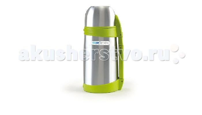 Термос Bebe Due с клапаном для раздачи жидкости и ручкой 1000 млс клапаном для раздачи жидкости и ручкой 1000 млТермос Bebe Due с клапаном для раздачи жидкости и ручкой 1000 мл выполнен из высококачественной нержавеющей стали, не содержит вредных веществ. Выделяется тем, что поддерживает температуру напитка более 12 часов, в зависимости от температуры заливки. Может сохранять как горячую, так и холодную температуру напитка. Встроен съемный клапан для раздачи жидкости, который служит системой не проливания, на случай если термос опрокинется в открытом состоянии.   Ударопрочный, герметичный, удобная форма, крышка используется как стакан. Незаменимый помощник на длительных прогулках, путешествиях, тренировках, при посещении роддомов и больниц. Можно мыть в посудомоечной машине, кроме клапана! С термосом в наборе идет сумка переноска на ремешке.<br>
