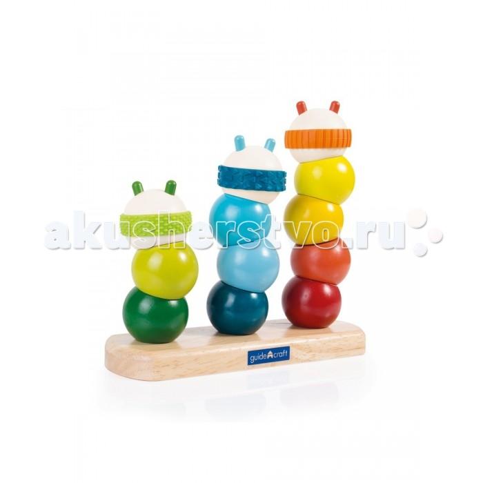 Деревянная игрушка Guidecraft Сортер пирамидка ГусеницаСортер пирамидка ГусеницаGuidecraft Сортер пирамидка Caterpillar Stacking Гусеница - это многофункциональная игрушка. Набор состоит из 14 округлых форм со специальной поверхностью для развития сенсорики. Сортер поможет вашему ребенку в обучении счету, изучении последовательности и формы, подбору цветов, а также будет полезен в ежедневных ролевых играх.<br>