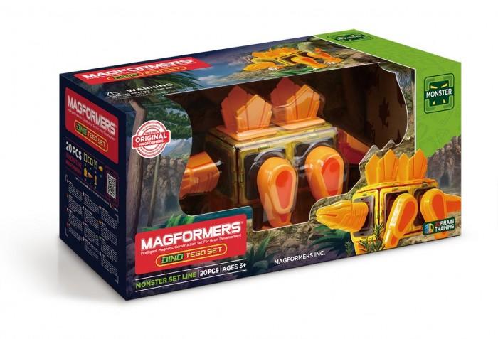 Конструктор Magformers Магнитный Dino Tego set (20 деталей)Магнитный Dino Tego set (20 деталей)Magformers Магнитный конструктор Dino Tego set - это возможность собрать фигурку яркого стегозавра! Травоядный зверь — большой, ярко-желтого цвета — станет любимой игрушкой для ребенка. Динозавры кажутся детям фантастическими созданиями, ведь это удивительно, что такие существа жили на планете миллионы лет назад. Теперь ребенок без труда соберет личного динозавра при помощи уже знакомых магнитов.  Все просто — нужно сложить элементы в необходимом порядке, и магниты легко соединятся в яркую фигурку. Помимо магнитных деталей, в комплекте — подвижные части тела динозавра. С их помощью зверь крутит головой, двигает хвостом и лапами, а также катается на колесиках. С яркой и необычной игрушкой ребенок окунется в мир фантазий, где прошлое переплетается с настоящим, поиграет сам или в компании друзей. Разбирать и собирать динозавра можно снова и снова, он будет неизменно интересным на протяжении долгого времени.  Конструктор просто собирать и разбирать, он яркий, красивый, так что игра с ним подарит массу эмоций ребенку. Магниты укреплены внутри деталей особым образом, который позволяет им поворачиваться друг к другу нужной стороной. В результате детали всегда притягиваются, и строить из них легко и удобно. В конструкторе используются самые сильные в мире неодимовые магниты, они повышают прочность построек.  Конструктор обладает уникальным развивающим потенциалом и подходит для игры и занятий с самого раннего возраста. Конструктор развивает интеллект и воображение ребенка, математические способности и логику, память и внимание. Работа с деталями улучшает мелкую моторику, а постройка объемных фигур развивает пространственное и абстрактное мышление. Возможности для раскрытия творческих способностей ребенка с Магформерс практически безграничны: из магнитных деталей можно собрать самые невероятные и фантастические модели.  Детали конструктора изготовлены из прочного непрозрачного плас