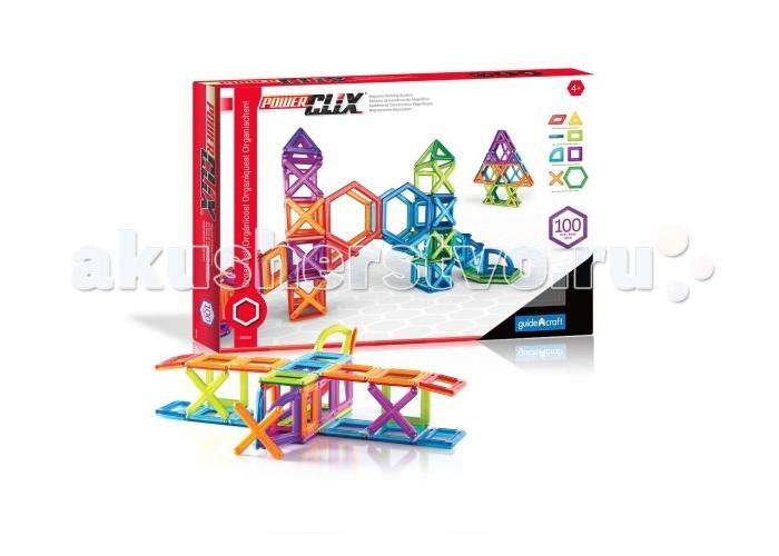 Конструктор Guidecraft магнитный PowerClix Frames 100 деталеймагнитный PowerClix Frames 100 деталейGuidecraft Конструктор магнитный PowerClix Frames 100 деталей с деталями эргономичной формы из цветного пластика. Из конструктора PowerClix можно создавать 2D и 3D фигуры. При помощи эргономичных деталей можно создать здания, животных и другие фигуры, которые встречаются в природе.  Каждому ребенку понравиться такой конструктор. Развивает пространственное мышление, моторику пальчиков и творческое воображение. Почувствуй силу магнита и откройте для себя возможности PowerClix.<br>
