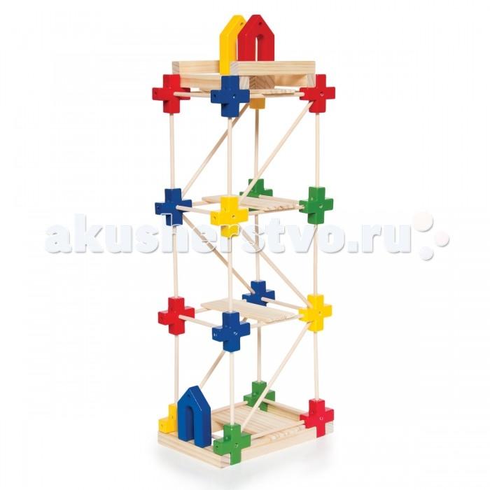 Деревянная игрушка Guidecraft Конструктор Texo 100 деталейКонструктор Texo 100 деталейGuidecraft Конструктор деревянный Texo 100 деталей система 3-х мерного конструирования для детей от известного архитектора Лестера Уокера. В одном наборе сразу несколько игр: простой пазл, сортер по форме и цвету, конструктор с постепенным изменением сложности конструкций от укладки взаимосвязанных форм до строительства мостов, домов и небоскребов.   Пластиковые стержни и балки из дерева твердых пород, в сочетании с геометрически точными пластиковыми коннекторами, раскрывают потенциал архитектора и конструктора. Возраст 3+.<br>