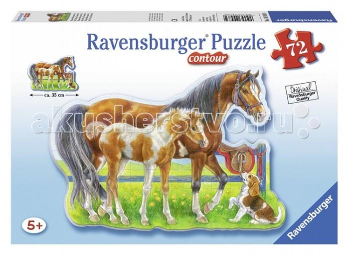 Пазлы Ravensburger Пазл контурный Лошади 72 элемента