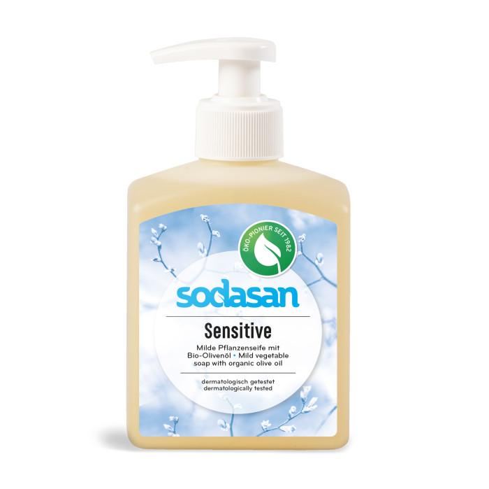 Косметика для мамы Sodasan Жидкое мыло для чувствительной кожи 300 мл жидкое мыло sodasan жидкое мыло травяной сандал 250 мл
