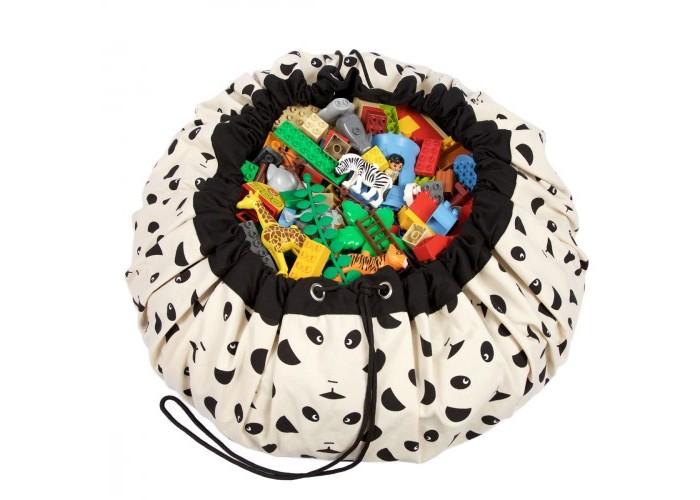 Play&amp;Go 2 в 1: мешок для хранения игрушек и игровой коврик Панда2 в 1: мешок для хранения игрушек и игровой коврик ПандаPlay&Go 2 в 1: мешок для хранения игрушек и игровой коврик Коллекция Designer Панда – настоящая мечта каждого малыша. Хранение игрушек в вашем доме - настоящая проблема? Откройте для себя мешки Play&Go!  Это простой и эффективный способ хранения игрушек. Кроме того, это необычайно весело! Два в одном: мешок для хранения игрушек – это ещё и игровой коврик – настоящая мечта каждого малыша. Даже хранение деталей конструктора перестанет быть проблемой, а также хранение кукол, машинок, мячиков, кубиков – все это легко собирается одним движением.   Диаметр: 140 см Уход: стирка при температуре 30°C Материал: 70% хлопок, 30% полиэстер.<br>