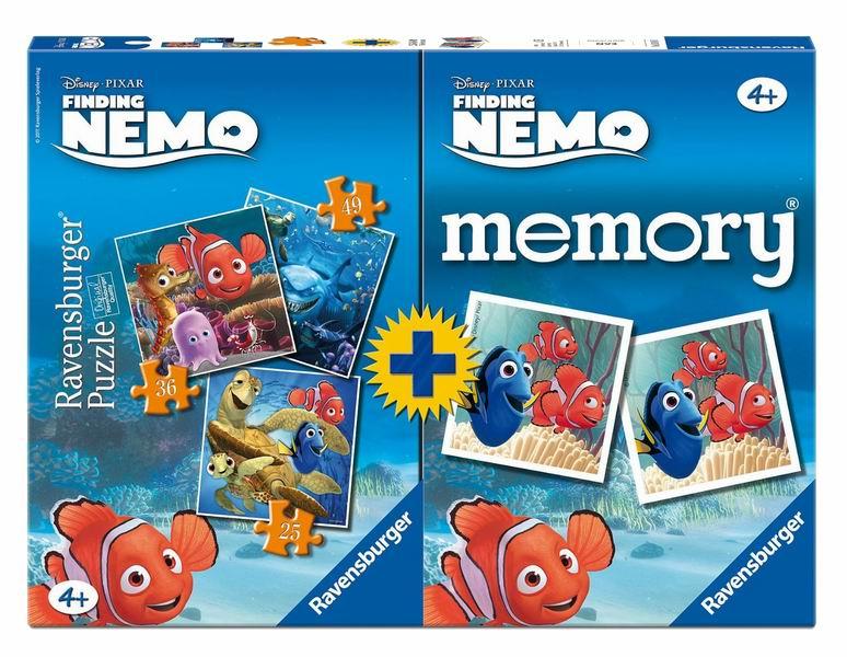 Пазлы Ravensburger Пазл + Мемори Приключения Немо 1х25, 1х36, 1х49 элементов + 48 карточек