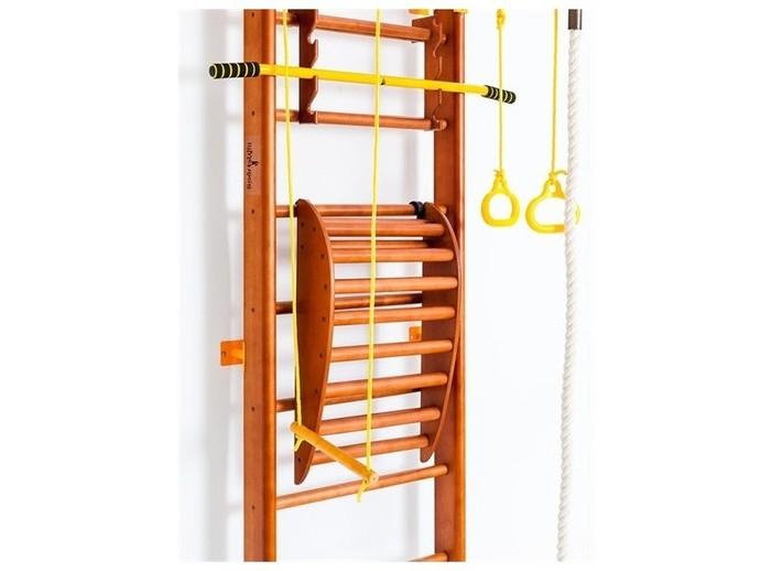 SportsWill Спортивный комплекс Strong Back 2Спортивный комплекс Strong Back 2Спортивный комплекс SportsWill Strong Back 2 имеет простое навесное крепление к ДСК SportsWill и послужит отличным дополнением к гармоничному развитию вашего ребенка.   Размер: 69 х 42 х 14 см<br>