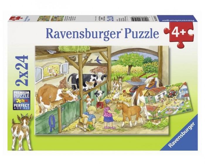 Пазлы Ravensburger Пазл День на ферме 2х24 элементов