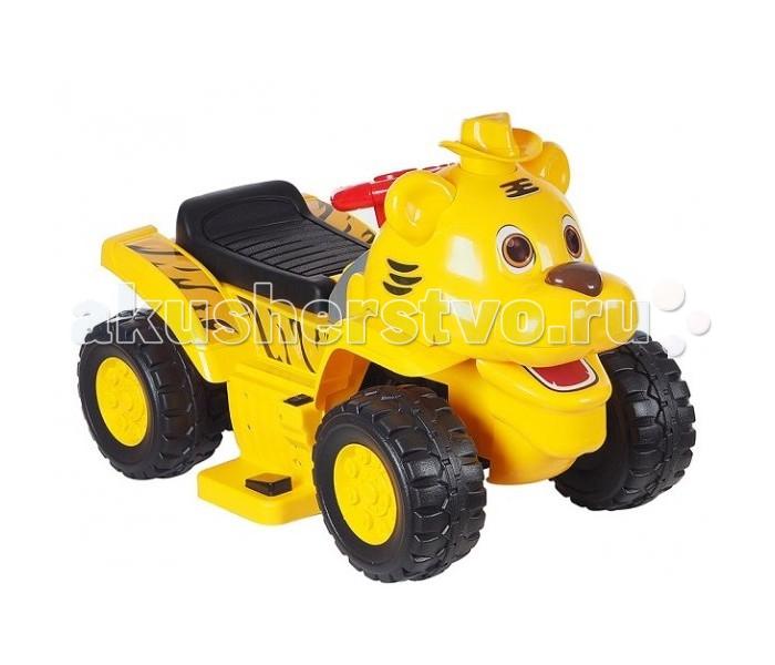 Электромобиль Tokids Тигр баскетбольное кольцо и 3 мячика 2 в 1Тигр баскетбольное кольцо и 3 мячика 2 в 1Tokids Электромобиль Тигр баскетбольное кольцо и 3 мячика 2 в 1 6V/4Ah мотор 1х3W - многофункциональная игрушка для вашего ребенка Помимо того, что он может развивать моторные функции, научиться управлять своим собственным маленьким автомобильчиком, он также может научиться играть в баскетбол. У машинки Тигр существует багажный отсек под сиденьем. В нем хранятся три резиновых мячика.  В спинку сиденья встроено баскетбольное кольцо. Когда сиденье открывается и занимает вертикальное положение, ребенок может отойти от машинки и кидать мячики в баскетбольное кольцо. Мячики будут падать прямо в багажный отсек. После этого можно закрыть сиденье, баскетбольное кольцо спрячется в багажном отсеке вместе с мячиками, и продолжить кататься. Для возобновления игры в баскетбол достаточно просто открыть сиденье.<br>