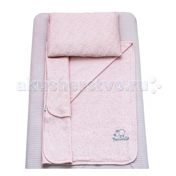 Постельное белье Pecorella Soft Foam (3 предмета)Soft Foam (3 предмета)Pecorella Комплект постельного белья Soft Foam (Нежная Пенка) изготовлен из 100% хлопка и предназначен для детей с рождения до 4 лет.  Простыня на резинке (60*120 см), которая сохранит форму, нарядный вид, ощущение чистоты и порядка в кроватке.   Мягкий плед (90*120 см) - вот что нужно вашему малышу во время сна. Плед отлично пропускает воздух. Получается и тепло, и кожа малыша не потеет. Плед - одеяло на основе хлопкового велюра обладает не только носкостью, но и прекрасно выглядит. Мягкий бархатистый ворс на одной стороне и нежный трикотаж на другой способствуют приятным тактильным ощущениям.  Наволочка из нежной хлопковой ткани (50*30 см).<br>