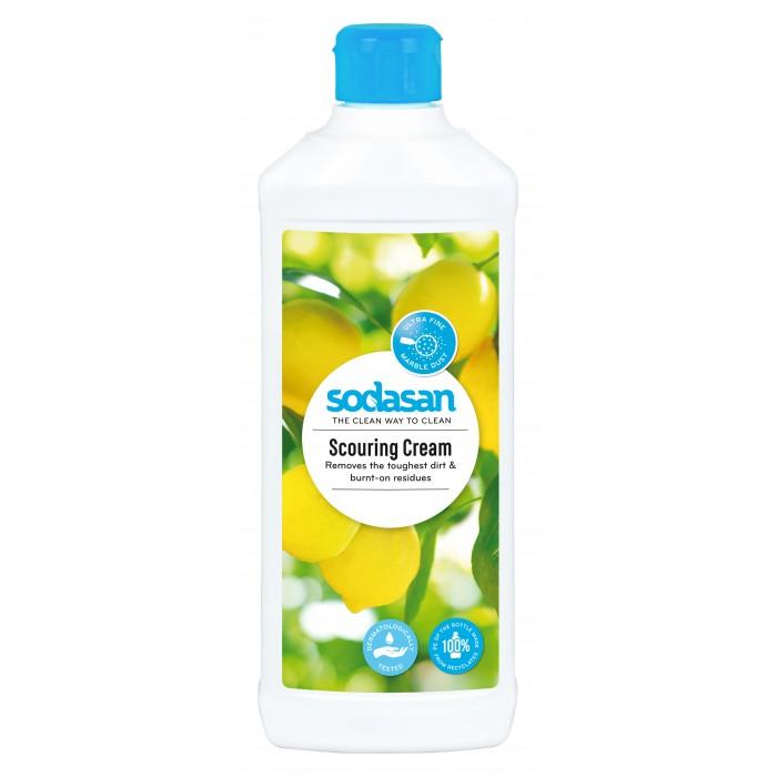 Бытовая химия Sodasan Чистящий крем для деликатных поверхностей 500 мл крем чистящий zero универсальный на основе натурального мела и сока лайма 500 мл