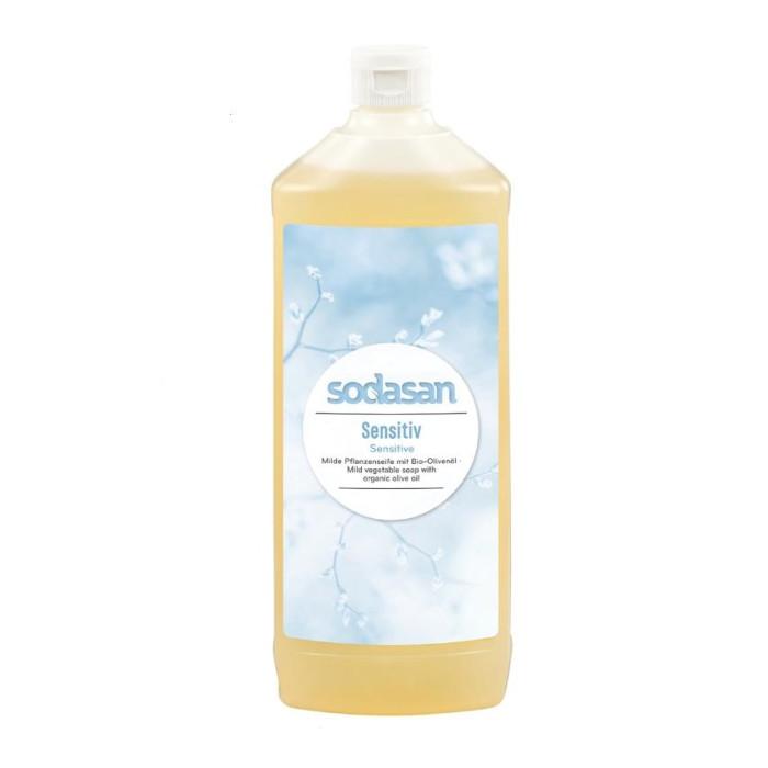 Косметика для мамы Sodasan Жидкое мыло для чувствительной кожи 1000 мл жидкое мыло sodasan жидкое мыло травяной сандал 250 мл
